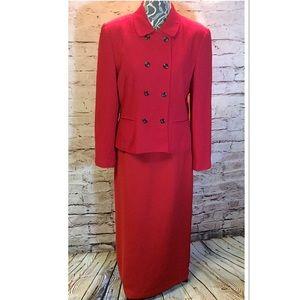 Le Suit Jackets & Blazers - SZ 12 LE SUIT RED DOUBLE BREASTED BLAZER/JACKET