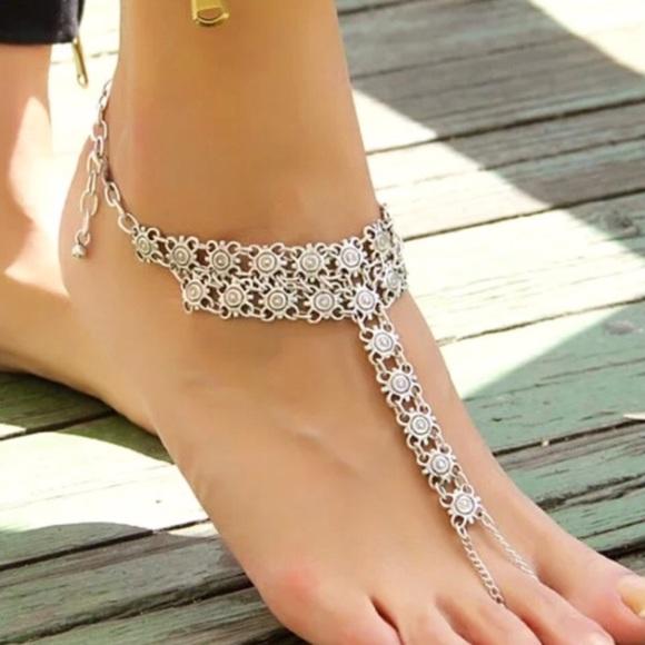 5e2e1ac60ee Foot Jewelry Beach Boho Wedding Sandals