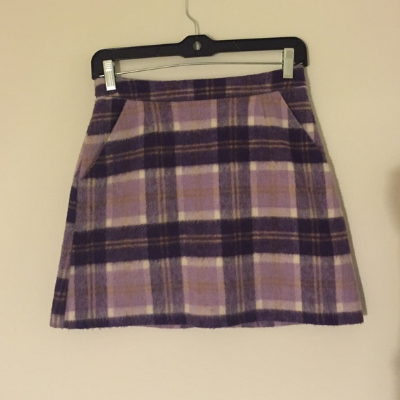 58% off Topshop Dresses & Skirts - Topshop Purple Plaid Skirt from ...