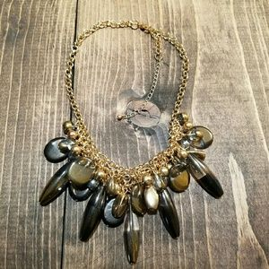 Glass and Gold Statement Necklace