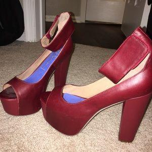Burgundy Jeffrey Campbell Platform Heels
