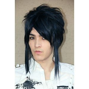 Blue Black Anime Boy Cosplay Visual Kei Magi Wig