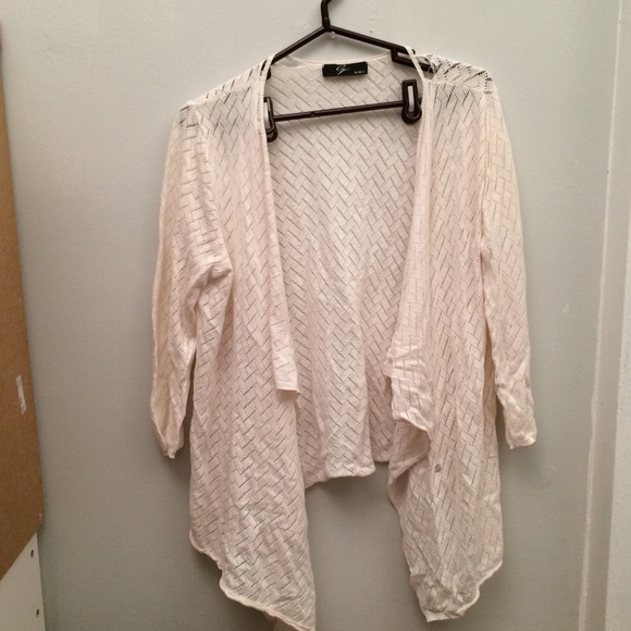 84% off Sweaters - Flowy White Cardigan from ♡ offer/bundle! :)'s ...