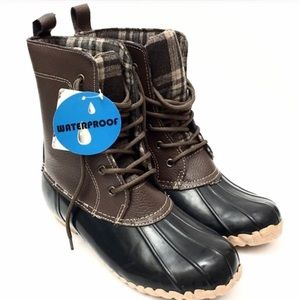 Tundra Shoes - Tundra Brown/Tan Leather Waterproof Duck Boots-New