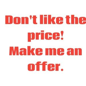 Other - I accept all offers on used items. Try it.