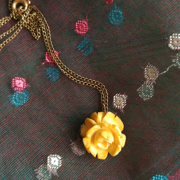 Vintage Jewelry Carved Bone Rose Necklace Van Dell Poshmark