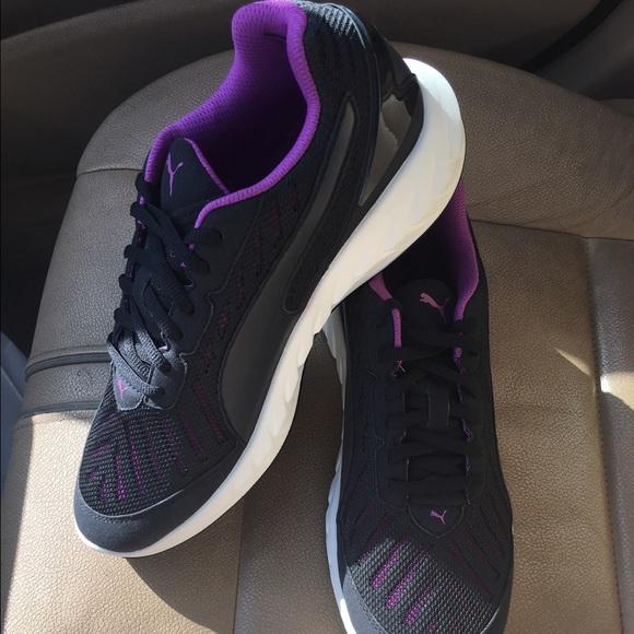 c23f016ac1f Puma ignite black and purple running sneaker. M 57d9618013302a2d4306e293