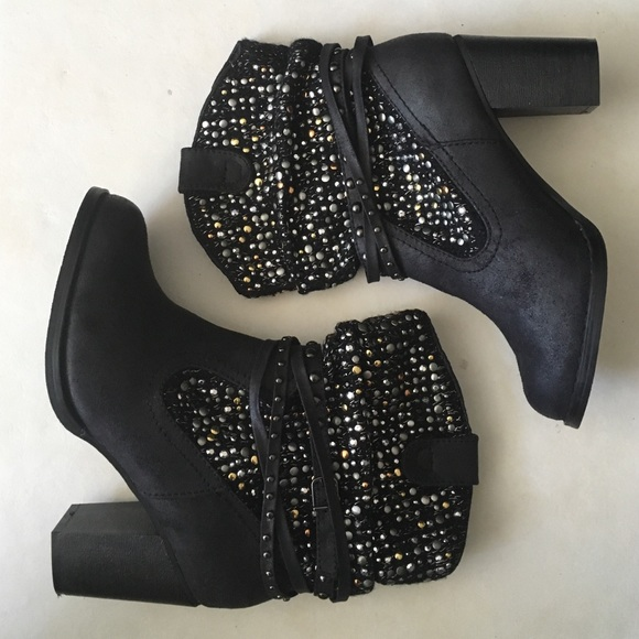 Top Rated Shoes - Not Rated Brand New Embellished Boots Heels