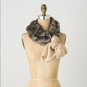 Anthropologie Faux Fur Scarf