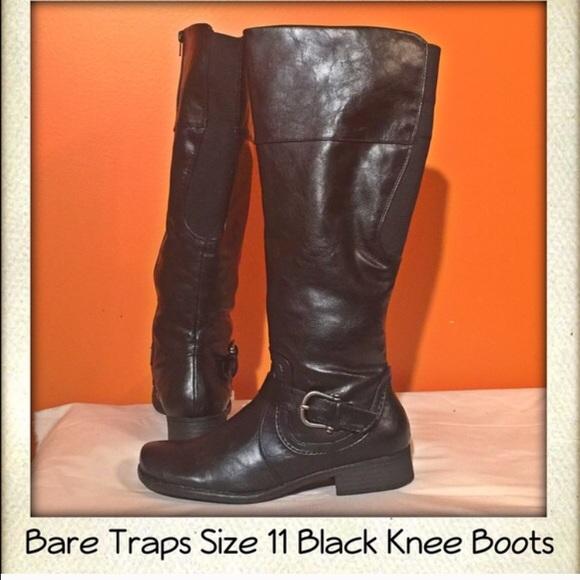 000f1c78cfb Bare traps Shoes - Bare Traps Black Wide Calf Riding Boots size 11