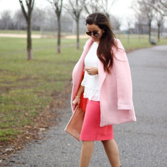 Goodnight Macaroon Jackets & Coats - Pink coat