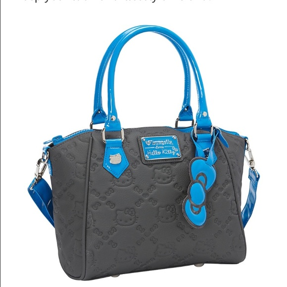 d0e7739137 Loungefly Hello Kitty Grey Blue Embossed Bag