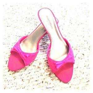 Pink kitten heels