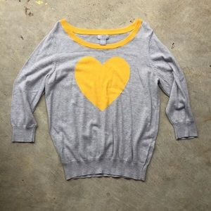 jcpenney Tops - JCP Gray Sweater with Yellow Heart