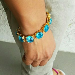 Gorgeous Crystal Bracelet Gold Plated New