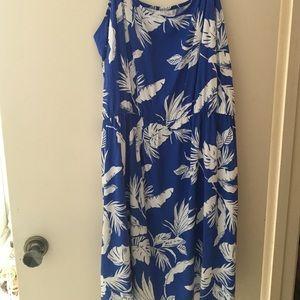 Brand new palm fronds print dress.