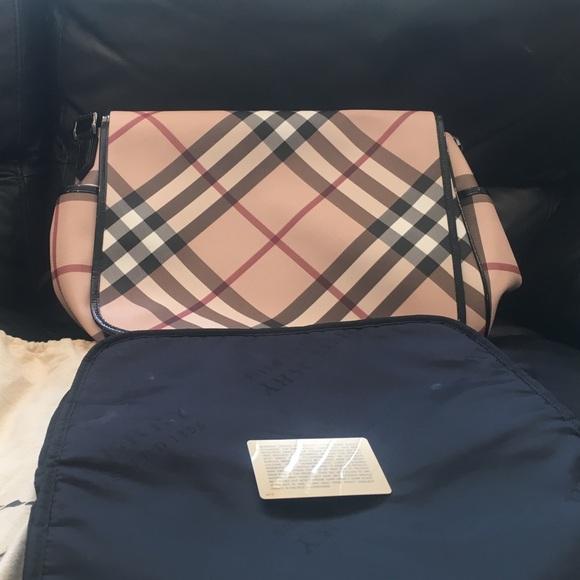 8f11b08aad BURBERRY Canvas Nova Check Diaper Messenger Bag