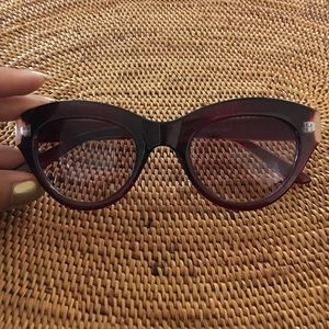 Accessories - Burgundy Cat-Eye Sunnies