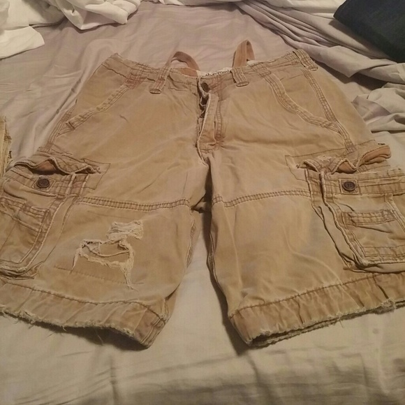 71% off Abercrombie & Fitch Other - Distressed cargo shorts, worn ...