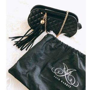 Jack Rabbit Black/Gold Quilted Bag