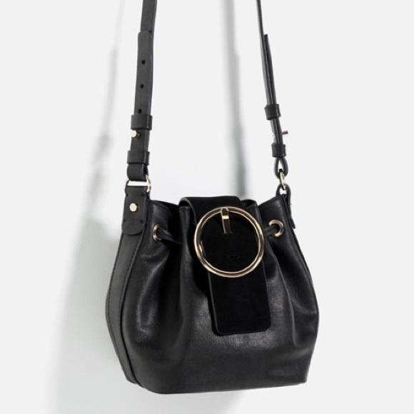 af0d9b41 Zara Bags | Suede Split Leather Bucket Bag | Poshmark