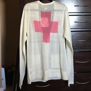 Wildfox White Label Love Saves Lives Cardigan
