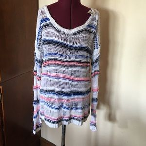 Abercombie Long Striped Sweater New NWT S White