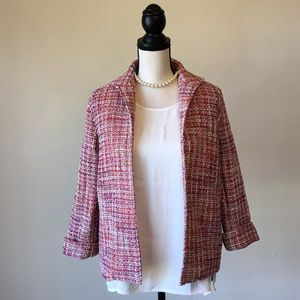 Alfred Dunner Sweaters - Alfred Dunner Petite patterned blazer