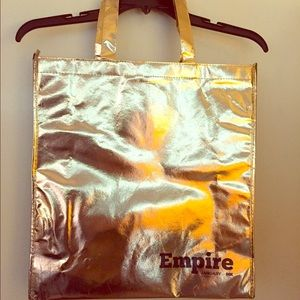 Empire on FOX Gold LaMe Bling tote bag RARE NWOT