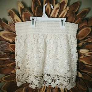 Shelly Crochet Mini Skirt