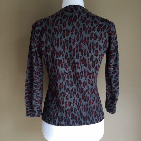 Forever 21 - Forever 21 gray animal print cardigan from Anah's ...