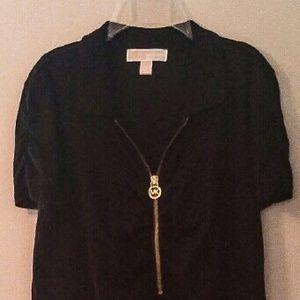 MICHAEL Michael Kors Tops - Michael Kors Top with Gold MK Zipper