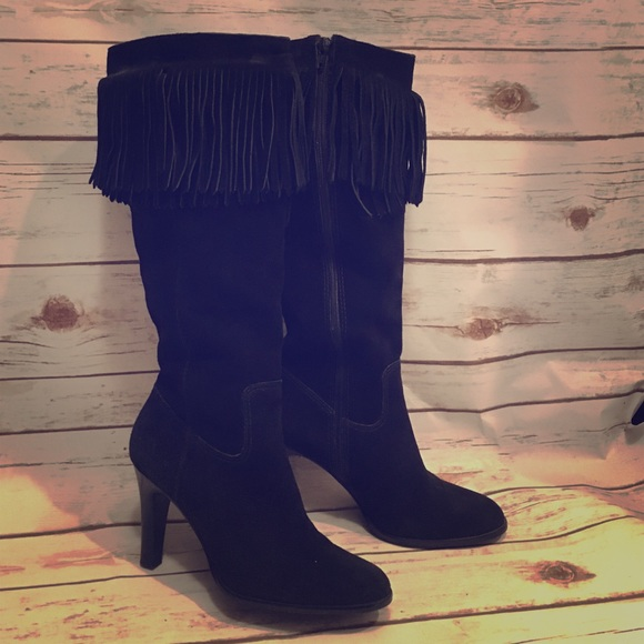 92% off Matisse Shoes - Leather fringe boots black by Matisse from ...