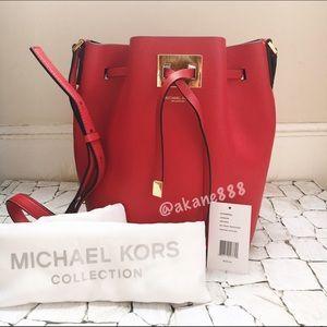 Michael Kors Handbags - NWT Auth Michael Kors Miranda Medium Drawstring