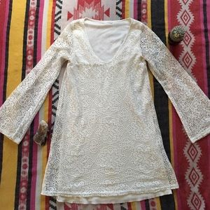 Stone Cold Fox Dresses & Skirts - 🌙 CHARLOTTE CROCHET MINI BELL DRESS 🌙