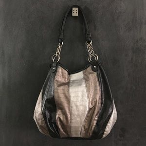 Handbags - Black, Silver, Bronze Hobo Bag