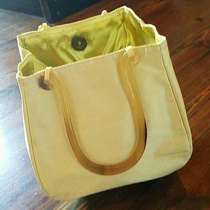 Handbags - Fabric bucket bag with horn handles