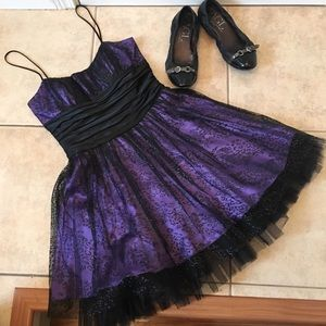 Morgan & Co. Dresses & Skirts - Sparkling Party Dress with Overlay