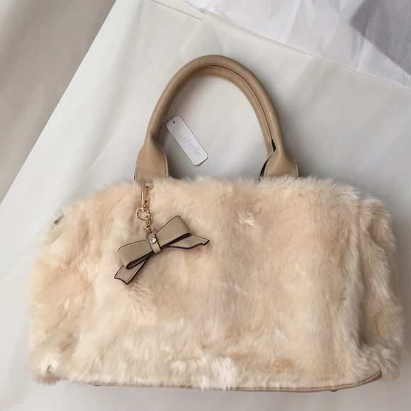 d53784cd52 Charming Charlie Fur tote! NWT