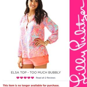 Lilly Pulitzer Tops - 🎉HP🎉 NWT Lilly Pulitzer Elsa Top Too Much Bubbly