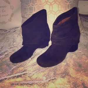 Gentle Souls Brown Suede Booties