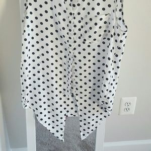 Pixley Tops - Black and white Polka Dot Blouse