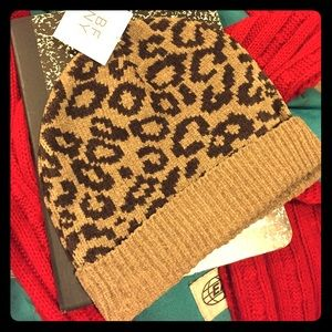 BFNY Other - Animal Print Cuffed Beanie