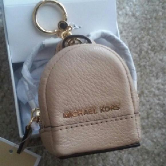 Michael Kors Accessories   Mini Backpack Key Chain Holder   Poshmark 5edde306bb