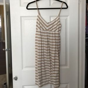 Old Navy striped tan dress