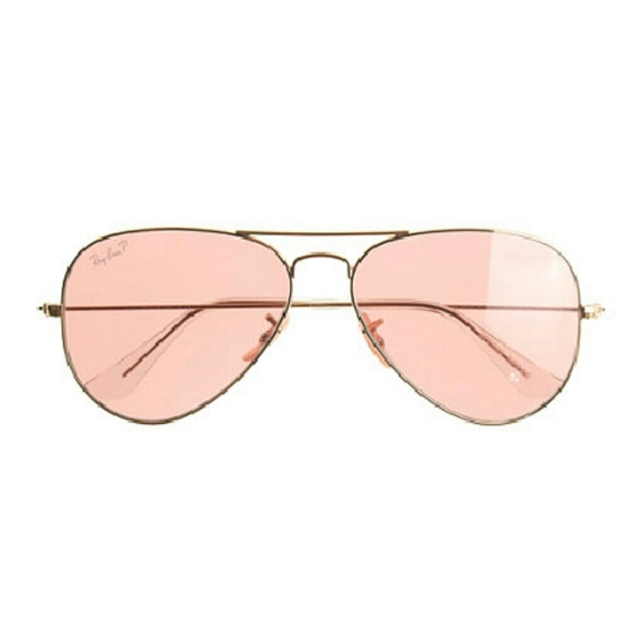 aviator ray ban polarized  51% off Ray-Ban Accessories - $75 in merc Ray-Ban Polarized Pink ...