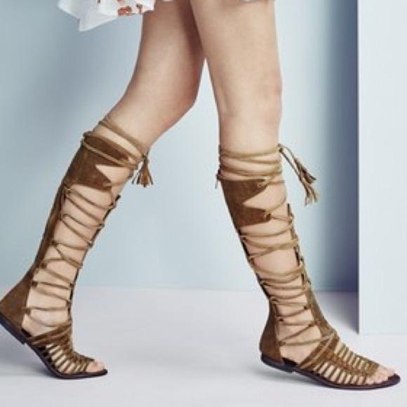 b192799fa81 Free People Shoes - Free People Sun Seeker Tall Gladiator Sandal 38 7