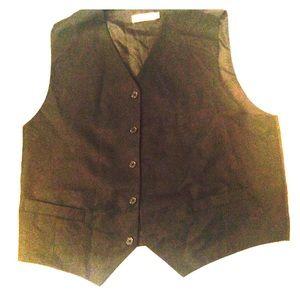 BOGO! Pierre Cardin black vest, back clinch, lined
