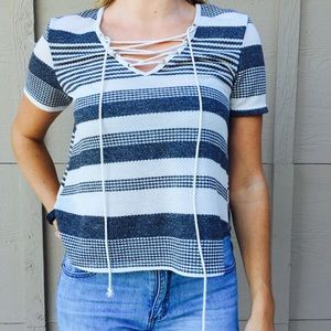 Criss-Cross Knit Top