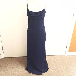 Chelsea Nites Dresses & Skirts - Long Minimalist Navy Blue Single Strap Slip Dress!